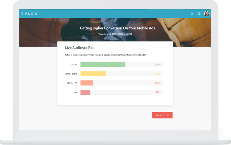 Boost audience interaction